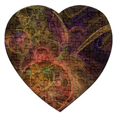 Abstract Colorful Art Design Jigsaw Puzzle (heart)