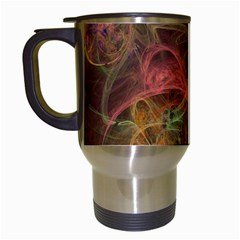 Abstract Colorful Art Design Travel Mugs (white)