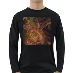 Abstract Colorful Art Design Long Sleeve Dark T Shirt