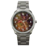 Abstract Colorful Art Design Sport Metal Watch Front