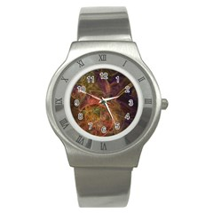 Abstract Colorful Art Design Stainless Steel Watch