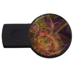 Abstract Colorful Art Design Usb Flash Drive Round (4 Gb)