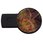 Abstract Colorful Art Design USB Flash Drive Round (4 GB) Front