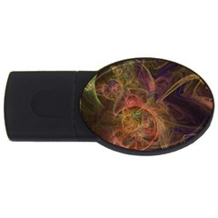 Abstract Colorful Art Design Usb Flash Drive Oval (4 Gb)