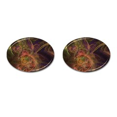 Abstract Colorful Art Design Cufflinks (oval)