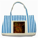 Abstract Colorful Art Design Striped Blue Tote Bag Front