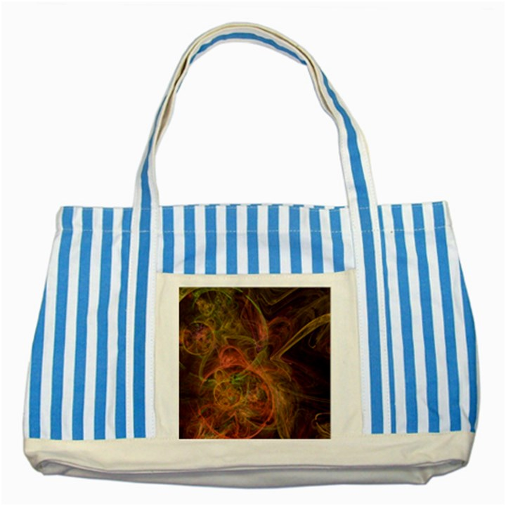 Abstract Colorful Art Design Striped Blue Tote Bag