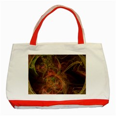 Abstract Colorful Art Design Classic Tote Bag (red)