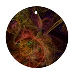Abstract Colorful Art Design Round Ornament (Two Sides) Back