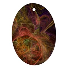 Abstract Colorful Art Design Oval Ornament (two Sides)