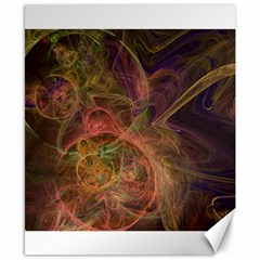 Abstract Colorful Art Design Canvas 8  X 10