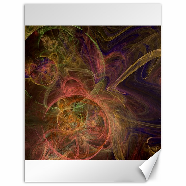 Abstract Colorful Art Design Canvas 12  x 16