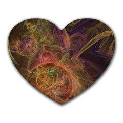 Abstract Colorful Art Design Heart Mousepads