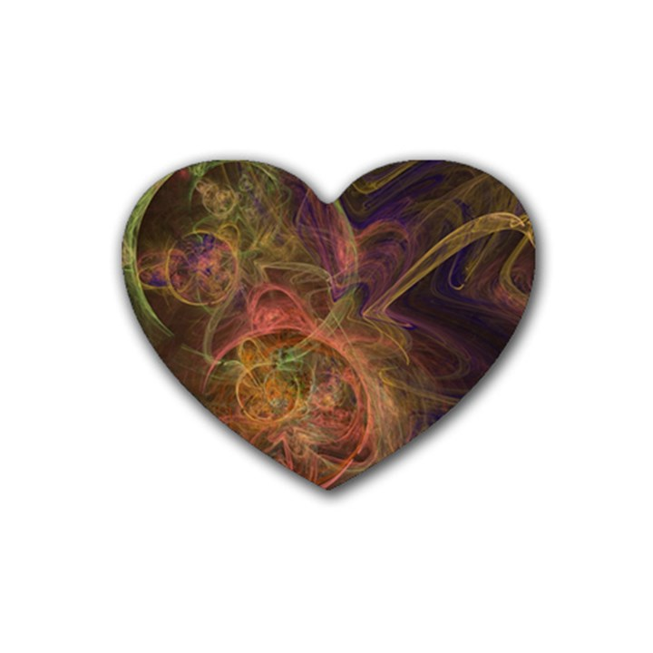 Abstract Colorful Art Design Rubber Coaster (Heart)