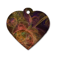 Abstract Colorful Art Design Dog Tag Heart (one Side)