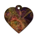 Abstract Colorful Art Design Dog Tag Heart (Two Sides) Front