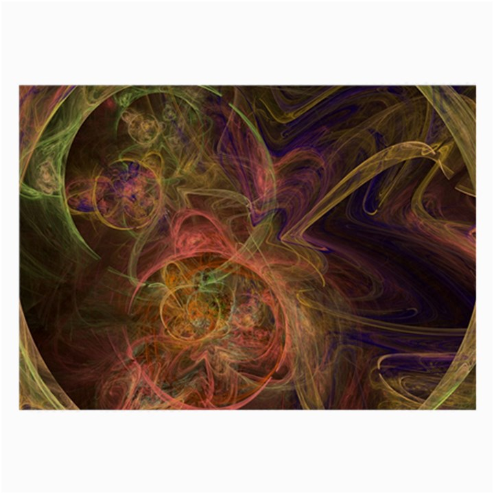 Abstract Colorful Art Design Large Glasses Cloth