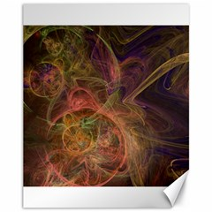 Abstract Colorful Art Design Canvas 11  X 14