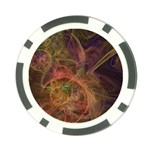 Abstract Colorful Art Design Poker Chip Card Guard Front