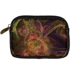 Abstract Colorful Art Design Digital Camera Leather Case