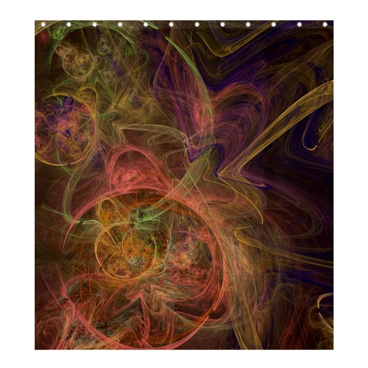 Abstract Colorful Art Design Shower Curtain 66  x 72  (Large)
