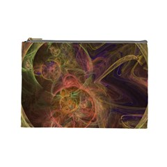 Abstract Colorful Art Design Cosmetic Bag (large)