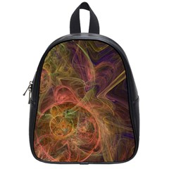Abstract Colorful Art Design School Bag (small)