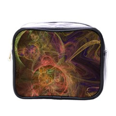Abstract Colorful Art Design Mini Toiletries Bag (one Side)
