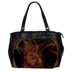 Abstract Colorful Art Design Oversize Office Handbag