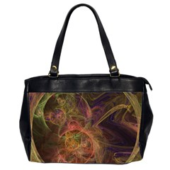 Abstract Colorful Art Design Oversize Office Handbag (2 Sides) by Nexatart