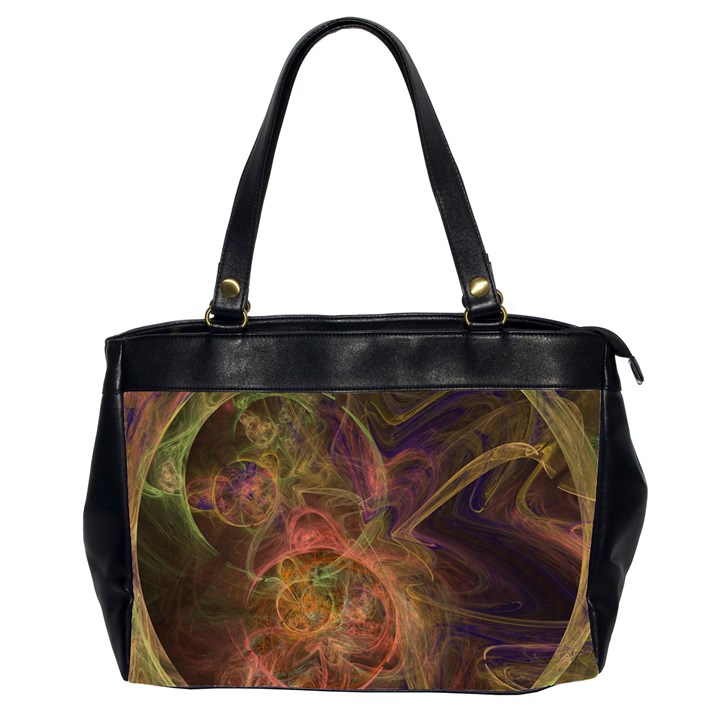 Abstract Colorful Art Design Oversize Office Handbag (2 Sides)