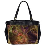 Abstract Colorful Art Design Oversize Office Handbag (2 Sides) Back
