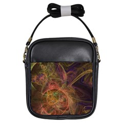 Abstract Colorful Art Design Girls Sling Bag