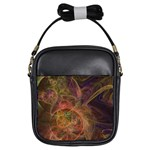 Abstract Colorful Art Design Girls Sling Bag Front