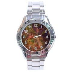 Abstract Colorful Art Design Stainless Steel Analogue Watch by Nexatart