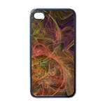 Abstract Colorful Art Design Apple iPhone 4 Case (Black) Front