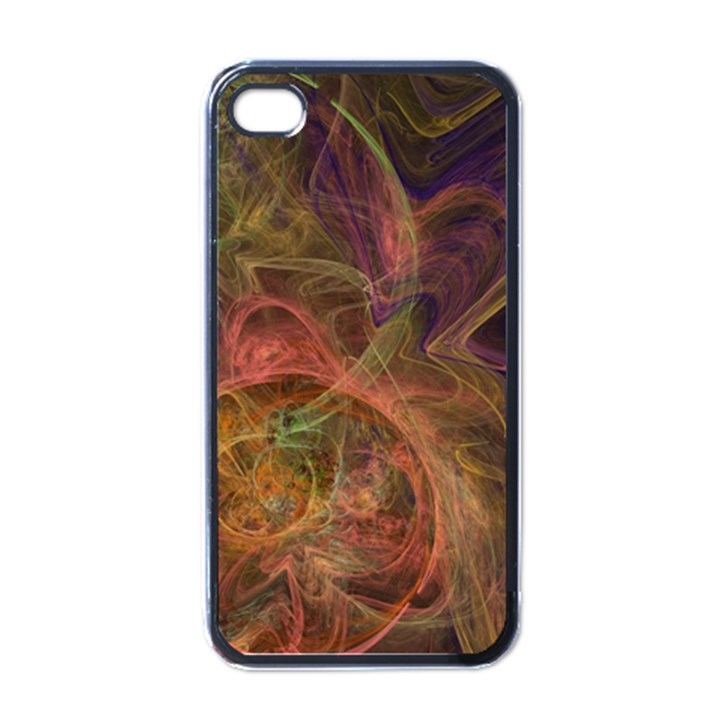 Abstract Colorful Art Design Apple iPhone 4 Case (Black)