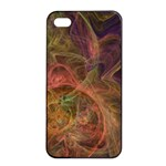 Abstract Colorful Art Design Apple iPhone 4/4s Seamless Case (Black) Front