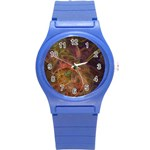 Abstract Colorful Art Design Round Plastic Sport Watch (S) Front