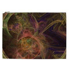 Abstract Colorful Art Design Cosmetic Bag (xxl)