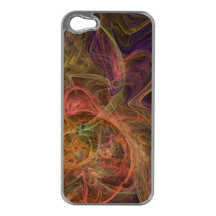 Abstract Colorful Art Design Apple iPhone 5 Case (Silver)