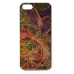 Abstract Colorful Art Design Apple Seamless Iphone 5 Case (clear)