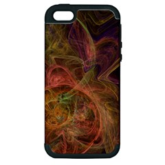 Abstract Colorful Art Design Apple Iphone 5 Hardshell Case (pc+silicone)