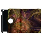 Abstract Colorful Art Design Apple iPad 2 Flip 360 Case Front