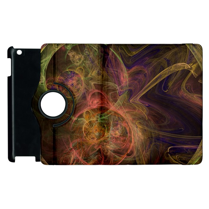 Abstract Colorful Art Design Apple iPad 3/4 Flip 360 Case