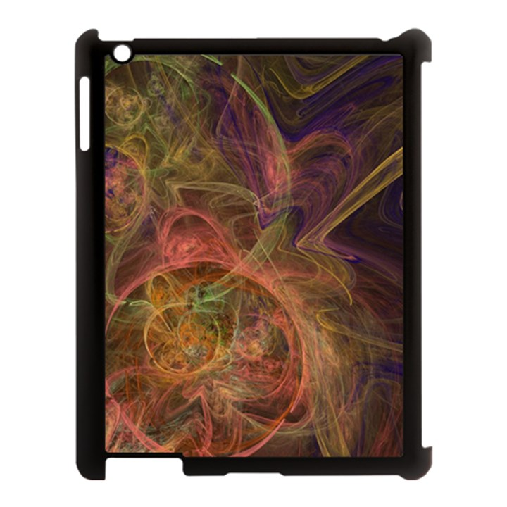 Abstract Colorful Art Design Apple iPad 3/4 Case (Black)
