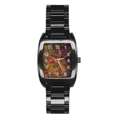 Abstract Colorful Art Design Stainless Steel Barrel Watch
