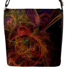 Abstract Colorful Art Design Flap Closure Messenger Bag (s)