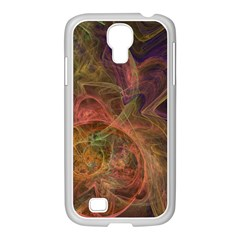 Abstract Colorful Art Design Samsung Galaxy S4 I9500/ I9505 Case (white)
