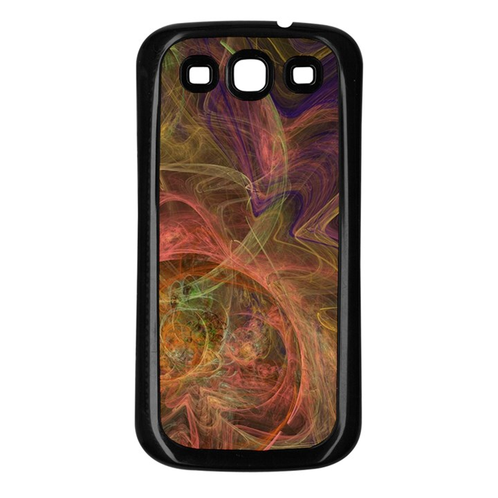 Abstract Colorful Art Design Samsung Galaxy S3 Back Case (Black)